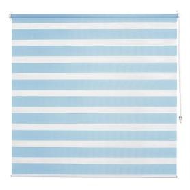 Штора рулонная день-ночь Inspire, 100х160 см, цвет голубой