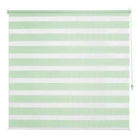 Штора рулонная день-ночь Inspire, 140х175 см, цвет зелёный