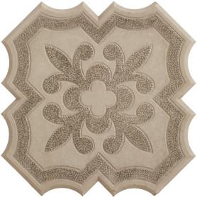 Плитка тротуарная Клевер 295x295x45 мм, цвет серый