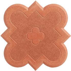 Плитка тротуарная Клевер 215x215x45 мм, цвет красный