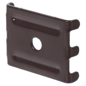 Крепление (скоба и саморез) для забора Grand Line. коричневый
