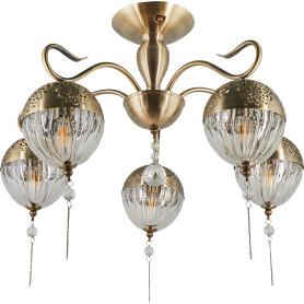 Люстра «Faberge» 594/5PL 5хЕ14х40 Вт цвет античная бронза