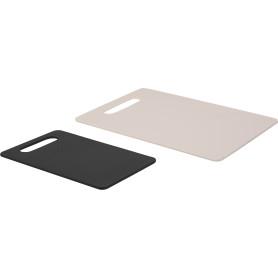Набор досок Delinia 24х35х1.2см/24x15x1.2 см, пластик, цвет серый/белый, 2 шт.
