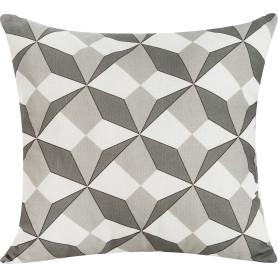 Подушка декоративная «Оптикал», 40х40 см, цвет серый