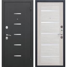 Дверь входная металлическая «Гарда Муар», 860 мм, правая, цвет лиственница бежевая