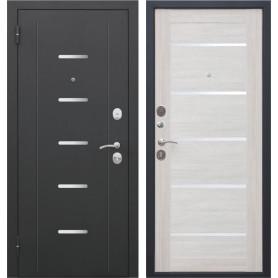 Дверь входная металлическая «Гарда Муар», 960 мм, левая, цвет лиственница бежевая