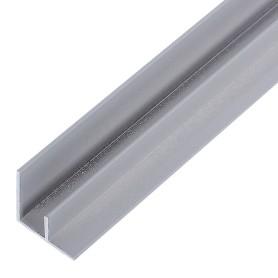 Профиль угловой F-образный для стеновой панели, 60х0.6 см, алюминий
