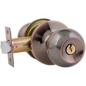 Ручка-защёлка Avers 6082-01-AC, с ключом и фиксатором, сталь, цвет старая медь