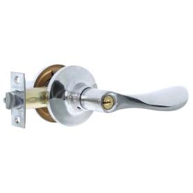 Ручка-защёлка Avers 8091-01-CR, с ключом и фиксатором, сталь, цвет хром