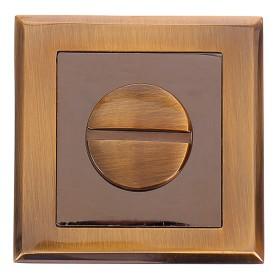 Фиксатор-вертушка для дверей 30 CF, ЦАМ, цвет кофе