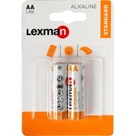 Батарейка алкалиновая Lexman AA, 2 шт.
