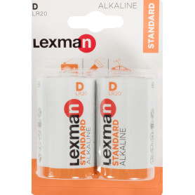 Батарейка алкалиновая В/LR20, 2 шт.