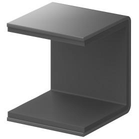 Скоба крепёжная для стеллажа Spaceo KUB Paris 35 мм металл цвет черный