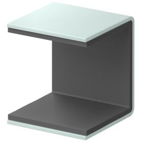 Скоба крепёжная для стеллажа SPACEO KUB Laguna 35 мм металл цвет сизый