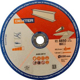Диск отрезной по нержавеющей стали Dexter, 230x1.9x22 мм