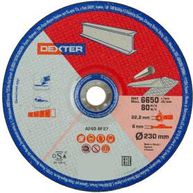 Диск зачистной по нержавеющей стали Dexter, 230x6x22 мм