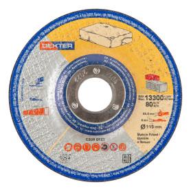 Диск зачистной по камню Dexter, 115x6x22 мм