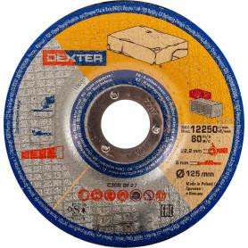 Диск зачистной по камню Dexter, 125x6x22 мм