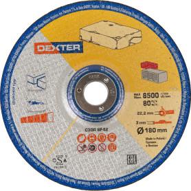 Диск отрезной по камню Dexter, 180x3x22 мм