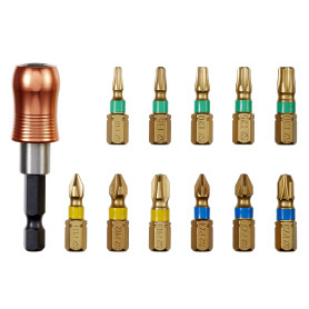 Набор бит с держателем Dexter Pro, 25 мм, 11 шт.
