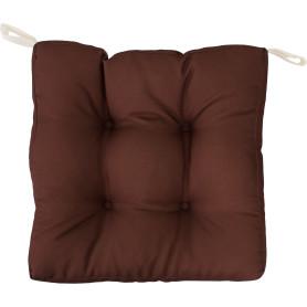 Сидушка для стула, 40х35 см, цвет коричневый
