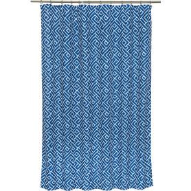Штора на ленте «Геометрия», 145х180 см, цвет синий