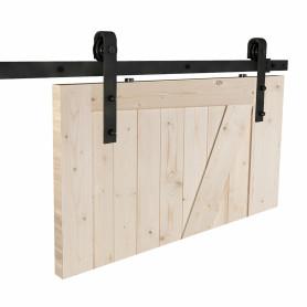 Система для раздвижных дверей «Лофт», 2045 мм, сталь, цвет чёрный