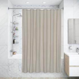 Штора для ванны Naturel, 180х200 см, полиэстер, цвет бежевый