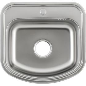 Мойка Klio Maidsinks 49Х47 см, глубина 18 см, нержавеющая сталь, цвет серебристый