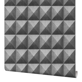 Обои флизелиновые Мир Concrete серые 1.06 м 45-197-02