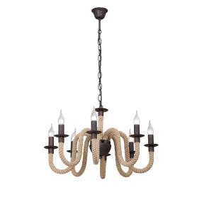 Люстра подвесная «Корда», 8 ламп, 24 м², цвет коричневый