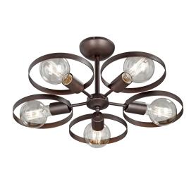 Люстра потолочная «Софито», 5 ламп, 15 м², цвет коричневый