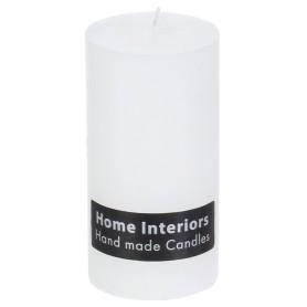 Свеча-столбик «Рустик», 7х13 см, цвет белый