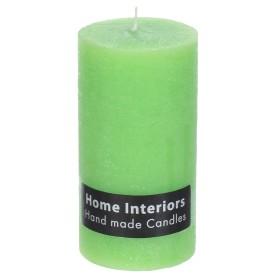 Свеча-столбик «Рустик», 7х13 см, цвет зелёный