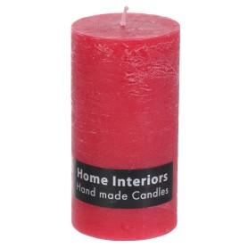 Свеча-столбик «Рустик», 7х13 см, цвет красный