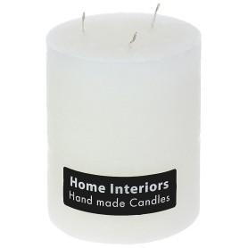 Свеча-столбик «Рустик», 10х12 см, цвет белый
