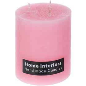Свеча-столбик «Рустик», 10х12 см, цвет розовый