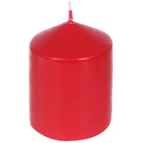 Свеча-столбик, 6х8 см, цвет красный