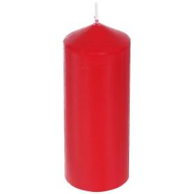 Свеча-столбик, 6х15 см, цвет красный