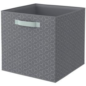 Короб Spaceo KUB Archi L 31x31x31 см 30 л полиэстер цвет комбинированный серый