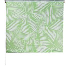 Штора рулонная «Тропики», 80х160 см, цвет салатовый