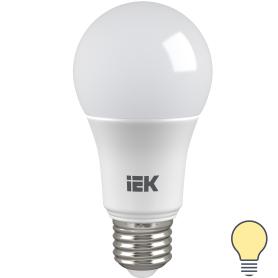 Лампа светодиодная IEK «Шар», E27, 13 Вт, 3000 К, свет тёплый белый