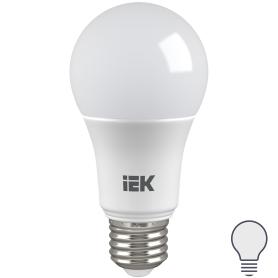Лампа светодиодная IEK «Шар», E27, 9 Вт, 4000 К, свет холодный белый