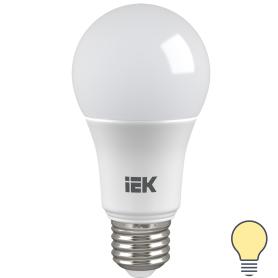 Лампа светодиодная IEK «Шар», E27, 9 Вт, 3000 К, свет тёплый белый