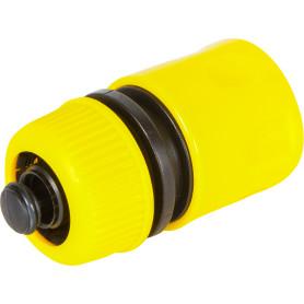 Коннектор для шланга быстросъёмный с аквастопом, 1/2-5/8 дюйма.