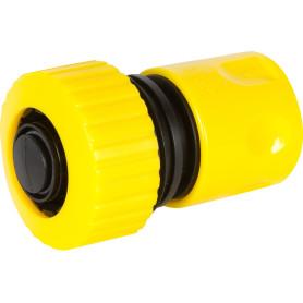 Коннектор для шланга быстросъёмный с аквастопом, 3/4 дюйма.