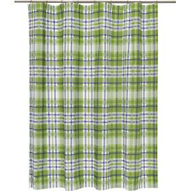 Штора на ленте «Села», 160х180 см, цвет зелёный
