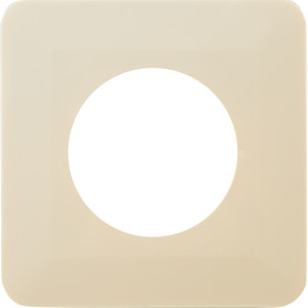 Накладка для розетки №1 1 пост, цвет бежевый