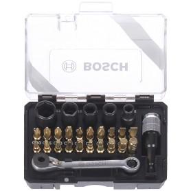 Набор бит с ключом-трещоткой Bosch, 27 шт.