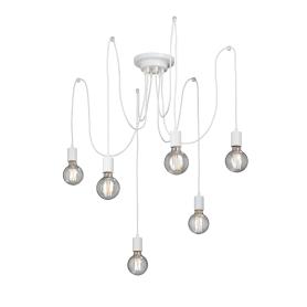 Подвесной светильник «Паук», 6хЕ27х60 Вт, цвет белый